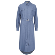 C/MEO COLLECTIVE Women's On Point Shirt Dress - Blue Suiting