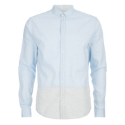 Calvin Klein Men's Ergen Long Sleeve Shirt - Sky Way/Light Grey
