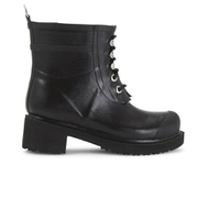 Ilse Jacobsen Women's Lace Up Ankle Rubber Boots - Black