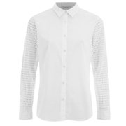 Paul by Paul Smith Women's Lace Sleeved Shirt - White