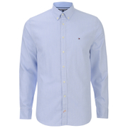 Tommy Hilfiger Men's Two Tone Dobby Shirt - Shirt Blue