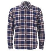 Edwin Men's Labour Herringbone Seersucker Shirt - Blue
