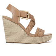 MICHAEL MICHAEL KORS Women's Giovanna Woven Wedge Sandals - Brown