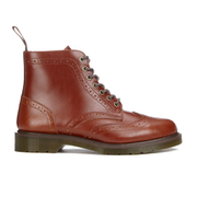 Dr. Martens Men's Affleck Brogue Lace Up Boots - English Tan Analine
