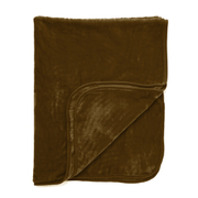 Luxurious Mink Faux Fur Throw - Chocolate