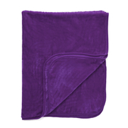 Luxurious Mink Faux Fur Throw - Grape