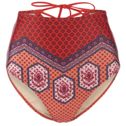 MINKPINK Women's Rosewater Laced Back High Waist Bottoms - Red