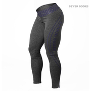 Better Bodies Women's Shaped Logo Tights - Anthracite/Purple