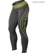 Better Bodies Women's Shaped Logo Tights - Anthracite/Lime
