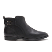 UGG Australia Women's Demi Leather Flat Ankle Boots - Black