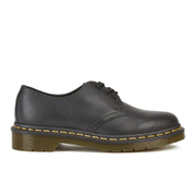 Dr. Martens Women's Core 1461 Virginia Leather 3-Eye Flat Shoes - Black