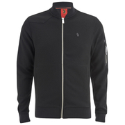Luke 1977 Men's Terra Zip Through Sweat - Jet Black/ White