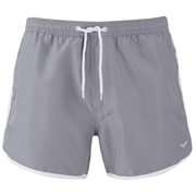 Threadbare Men's Basic Peach Retro Swim Shorts - Mid Grey