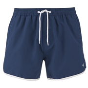 Threadbare Men's Basic Peach Retro Swim Shorts - Navy