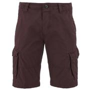 Threadbare Men's Hulk Cargo Shorts - Burgundy