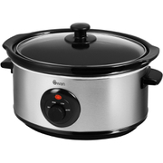 Swan SF17020N Slow Cooker - Stainless Steel - 3.5L