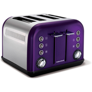 Morphy Richards 242016 Accents 4 Slice Toaster - PLUM