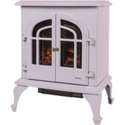 Warmlite WL46001MA/MOB Log Effect Stove Fire - Cream - 2000W