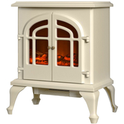 Warmlite WL46015C Log Effect Stove Fire - Cream - 2000W