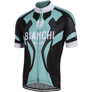 Bianchi Men's Ocreza Short Sleeve Jersey - Black/Green