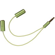 KitSound Headphone Splitter - Green