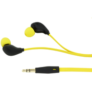 KitSound Active Sports Short Cable Earphones With In-Line Remote & Mic - Yellow
