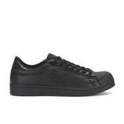 Crosshatch Men's Reptile Low Top Trainers - Black