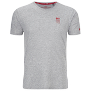 Crosshatch Men's Atlantic Back Print T-Shirt - Grey Marl
