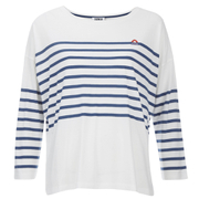 Sonia by Sonia Rykiel Women's Striped Long Sleeve Top - Ecru/Petrol