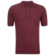 John Smedley Men's Adrian Sea Island Cotton Polo Shirt - Russet Red