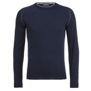 John Smedley Men's Kernick Merino Crew Neck Jumper - Midnight