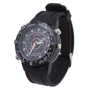 MS4 8GB Spy Watch Video Camcorders - Black Rubber Band