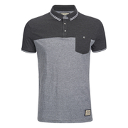 Brave Soul Men's Othello Panel Polo Shirt - Charcoal