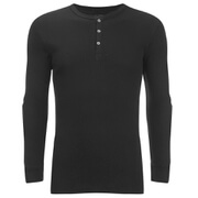 Levi's Men's Long Sleeve Grandad Top - Black