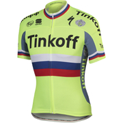 Tinkoff Russian Champ BodyFit Pro Team Short Sleeve Jersey 2016 - White