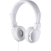Goodmans On Ear Headphones with In-Line Mic & Remote - White