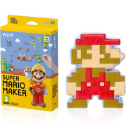 Super Mario Maker + 8-Bit Mario Soft Toy