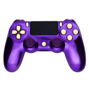 PlayStation DualShock 4 Custom Controller - Chrome Purple & Gold