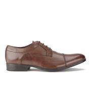 Clarks Men's Banfield Cap Leather Derby Shoes - Tan
