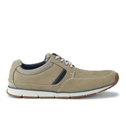 Clarks Men's Beachmont Edge Nubuck Trainers - Taupe