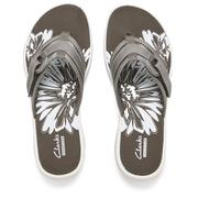 Clarks Women's Brinkley Mila Toe Post Sandals - Pewter