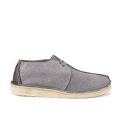 Clarks Originals Men's Desert Trek Leather Boots - Blue/Grey