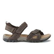 Clarks Men's Vextor Part Nubuck Sandals - Tobacco