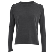 VILA Women's Central Long Sleeve Top - Dark Grey Melange