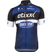 Etixx Quick-Step Short Sleeve Long Zip Jersey 2016 - Black/Blue