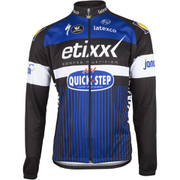 Etixx Quick-Step Long Sleeve Long Zip Jersey 2016 - Black/Blue