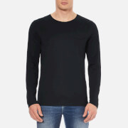 Selected Homme Men's Florence Pima Long Sleeve T-Shirt - Black