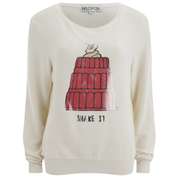 Wildfox Women's Shake It Baggy Beach Jumper - Pearl