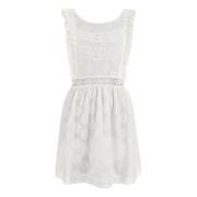 "MINKPINK Women's ""Wild Traveller"" Lace Dress With Crochet Trims - Off White"