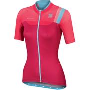 Sportful BodyFit Women's Short Sleeve Jersey - Pink/Blue